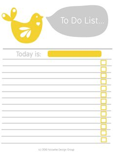 To do list, bird #printables