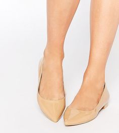 ASOS LOST Pointed Ballet Flats - Beige