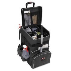 Rubbermaid Commercial - Executive Quick Cart, Large, 14 x 16 x 25 - Dark Gray Kick Plate, Janitorial, Trash Bag, Lobbies, Good Housekeeping, Tent Camping, Clean House, Cleaning Supplies, Cleaning Hacks