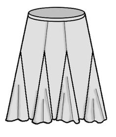 Gored Skirt with Godets and a link to Hot Patterns Bosa Nova Gored Skirt pattern