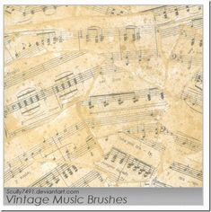 Readme file attached for more info A bit of a vintage brush series going on here. Music Backgrounds, Great Backgrounds, Free Printable Sheet Music, Music Doodle, Photoshop Website, Photography Software, Heritage Scrapbooking, Music Drawings, Music Painting