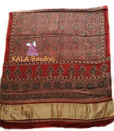 Ajrak is a unique form of block printed shawls and tiles found in Kutch, Gujarat; a in India. These shawls display special designs and patterns made using block Pink Moonstone, White Patterns, Pattern Making, Over The Years, Bohemian Rug, Bandhani Saree, Silk Dupatta, Display, Pure Products