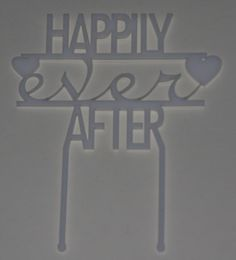 Taart Topper happily ever after by DutchTack via DaWanda