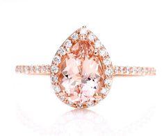 Pear 14K Rose Gold Ring