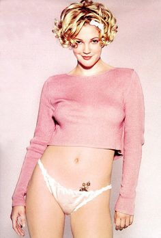 drew barrymore goes pink Shes the beautiful girl in this world!To me but weren't we all in out early...20s!?