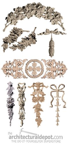 Furniture Appliques Seen On Her Site #frenchdecor