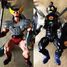 #toys #vintagetoys 2 Vintage Ko Galaxy Warrior Fighter Turly Gang Sun Hawk Baltard Motu FREE SHIP
