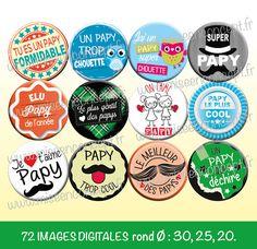 anniversaire... un magnet badge aimant/é ma cousine elle est trop chouette 56mm id/ée cadeau no/ël