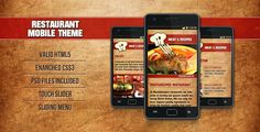 Review Restaurant Mobile Theme Meat&RecipesIn our offer link above you will see