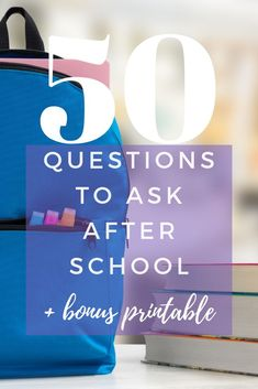 "Are you tired of one word answers like ""fine""? Here are 50 questions to ask your kid after school besides how was your day plus a bonus printable! Parenting Books, Parenting Teens, Kids And Parenting, Learning Websites, Kids Learning, After School, School Kids, Middle School, Questions To Ask"