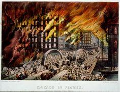 El gran incendio de Chicago 1871