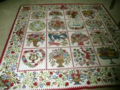 Sue Garman knocks my socks off! This is one of her new Baltimore album quilts. All hand applique!