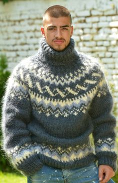 Mohair Sweater, Men Sweater, Iceland, Hand Knitting, Scandinavian, Jumper, Turtle Neck, Sweaters, Ice Land