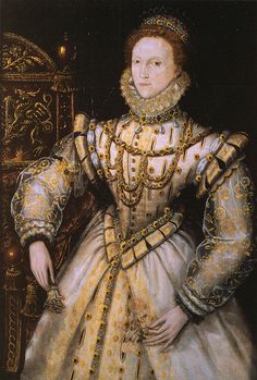 Portrait of Elizabeth I believed to have been commissioned by Robert Dudley, circa 1575.
