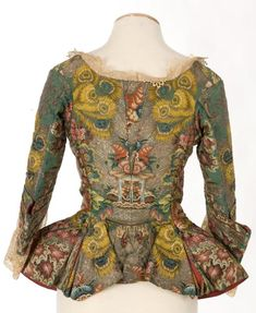 Jacket (casaca, caroco, or casaquin, depending on the country it is from), undoubtedly made of silk. ca 1730-40 (back)
