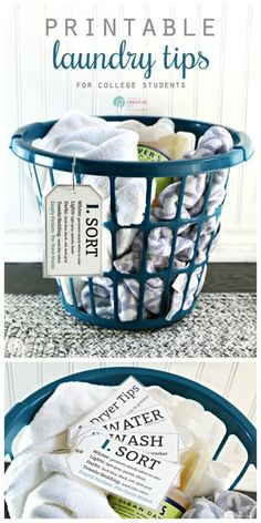 Printable Laundry Tips for College Students - How to do laundry - College Life   Today's Creative Life