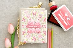 Simon Says Stamp | So Happy You're My Mama. Jewel Paper with Nuvo Drops. Video + Blog Hop + Giveaway | | Yana Smakula