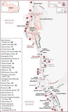Kaanapali-Lahaina Hotel Map
