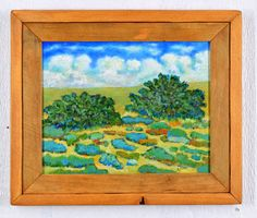 Impressionist landscape painting available with a recycled wood frame. By Robert Price. www.robertpriceart.com