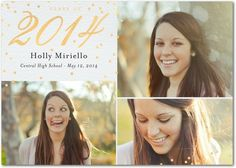 Rewarding Sparkle - Foil Stamped #Graduation Announcements - Magnolia Press in a neutral Linen design with gold foil