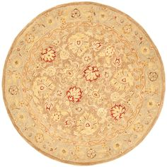 Safavieh Handmade Ancestry Tan/ Ivory Wool Rug (6' Round) - Overstock™ Shopping - Great Deals on Safavieh Round/Oval/Square