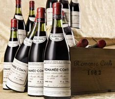 Domain-de-la-Romanee-Conti-1990 This is the world's finest Pinot Noir, which is wine made from a red wine grape variety of the species Vitis Vinifera. It's a French wine coming from the Burgundy region in eastern France.