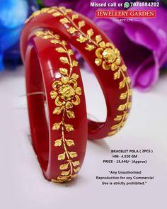Bridal Bangles, Gold Bangles, Bangle Bracelets, Hand Jewelry, India Jewelry, Bengali Jewellery, Thread Bangles, Gold Jewellery Design, Trouser