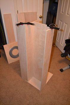 My First Project: Spinning DVD Rack | Ana White Dvd Storage Rack, Dvd Rack, Bookshelf Plans, Desk Plans, Diy Dvd Shelves, Dvd Unit, Hardwood Plywood