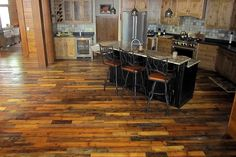 Get the unique quality & history of flooring made from reclaimed wood. Custom milled reclaimed wood flooring for a look unique to your home. Reclaimed Hardwood Flooring, Installing Hardwood Floors, Engineered Hardwood Flooring, Diy Flooring, Flooring Ideas, Pallet Floors, Real Wood Floors, Scrap Wood Projects, Pallet Crafts