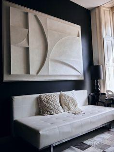 Accent Walls In Living Room, Home Living Room, 3d Wall Art, Framed Wall Art, Above Bed Decor, Plaster Art, Modern Essentials, Room Decor, Wall Decor