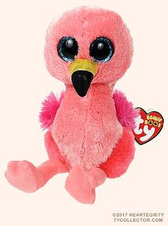 Gilda, Ty Beanie Boos flamingo, reference information and photograph. All Beanie Boos, Beanie Boo Party, Beanie Boos For Sale, Ty Stuffed Animals, Plush Animals, Ty Teddies, Ty Babies, Beanie Babies, Ty Beanie Boos Collection