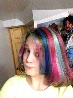 Sirenna's rainbow highlights