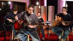 Breaking Benjamin performing acoustics somewhere.