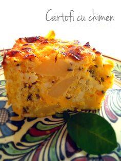 Cartofi cu chimen(Potatoes with cumin) -Bukovina area Lasagna, Mashed Potatoes, Good Food, Meals, Dishes, Ethnic Recipes, Kitchens, Whipped Potatoes, Meal