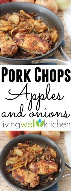Pork Chops, Apples, and Onions | http://memeinge.com/blog/pork-chops-apples-and-onions/