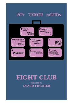 Fight Club (1999) ~ Minimal Movie Poster by David Peacock