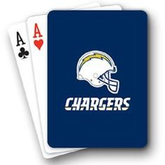 NFL San Diego Chargers Playing Cards by PSG. $4.95. NFL San Diego Chargers Playing Cards