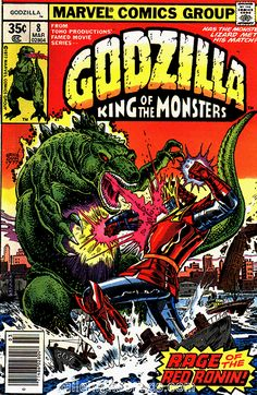 Red Ronin didn't get his own comic so another Godzilla book
