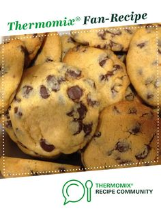 Recipe Jess' Choc Chip Cookies by learn to make this recipe easily in your kitchen machine and discover other Thermomix recipes in Baking - sweet. No Bake Cookies, Cake Cookies, Bellini Recipe, Baking Flour, Sewing Class, Tray Bakes, Afternoon Tea, Sweet Recipes, Cooker