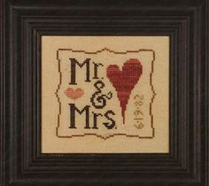 Mr & Mrs wee one (with charms) - Cross Stitch Pattern