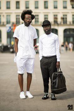 Two men street style paris Fashion Week, Fashion Photo, Men's Fashion, Nick Wooster, Men Street, Street Wear, Paris Street, Look Con Short, Street Style