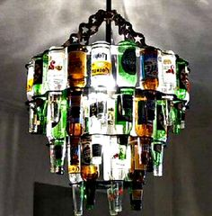 All Kinds Of Lighting -- Silly Chandeliers--Beer Bottles