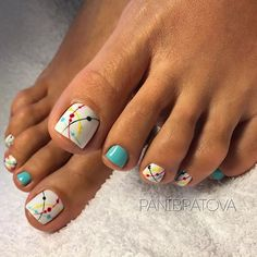 Sometimes fabulous nails are exactly that one last thing missing on the way to the creation of the unique look. Check out our ideas for your toes! Pretty Nail Designs, Colorful Nail Designs, Toe Nail Designs, Pretty Toe Nails, Cute Toe Nails, Pedicure Nail Art, Toe Nail Art, Pedicure Ideas, Pedicure Designs