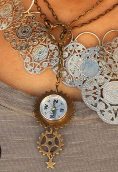 steam punk necklace via Gypsyville