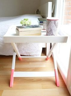 TV trays as nightstands brilliant