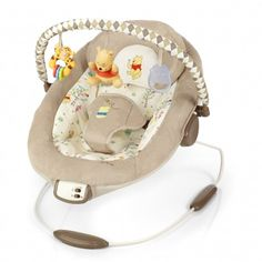 Winnie the Pooh Bouncer - super soft cotton, simple. just what baby needs to watch you from their special chair! Winnie The Pooh Themes, Winnie The Pooh Nursery, Winne The Pooh, Best Baby Bouncer, Baby Gallery, Baby Swings, Everything Baby, Baby Disney, Disney Disney