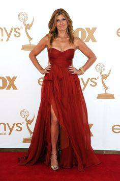 another fabulous RED red carpet dress, pictured here on connie britton.
