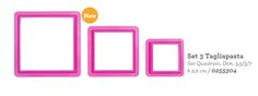 Tagliapasta e stampi vari : Set 3 tagliapasta quadrato Decora Mis. 3,5/5/7 cm