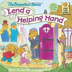 The Berenstain Bears Lend a Helping Hand by Stan Berenstain http://www.amazon.com/dp/0679889566/ref=cm_sw_r_pi_dp_vqfUub09KDCNW