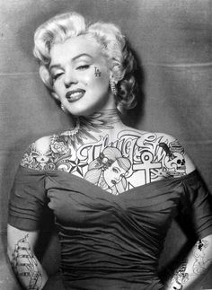 How sick would Marilyn Monroe look if the chick on her chest was Audrey Hepburn!!!!